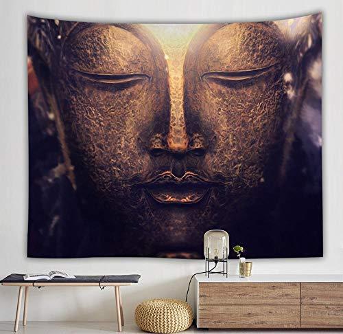 Buddha Tapestry Bohemian Tappeto a parete Tessuto Tappetino yoga Coperta per dormire Home Decor Arazzo A1 130x150cm
