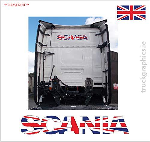 Scania volgende generatie embleem Union Jack Vlag Sticker Sticker Sticker -39