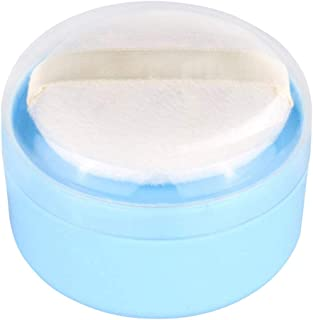 Onwon Baby After-Bath Puff Box Empty Body Powder Container Dispenser Case with Sifter and Powder Puffs for Home and Travel Use