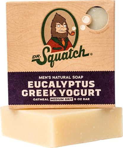 Exfoliating Soap for Men with Oatmeal Scrub – Eucalyptus Greek Yogurt – Man's Delight with Moisturizing Yogurt and… 1