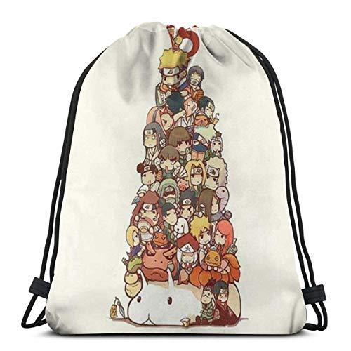 LUCKY Home Bolso clásico con cordón, mochila de gimnasio Naruto, bolsa de almacenamiento de deporte, para hombre y mujer
