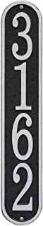 Whitehall Personalized Cast Metal Address Plaque - Custom House Number Sign - Vertical Oval (3.5