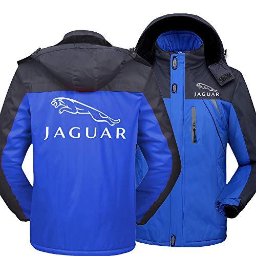 SPORTYAN Herren Regenfest Hooded Jacke Samt Draussen Beiläufig Windbreaker Zum Jaguar Warm Mantel Y / C1 / M