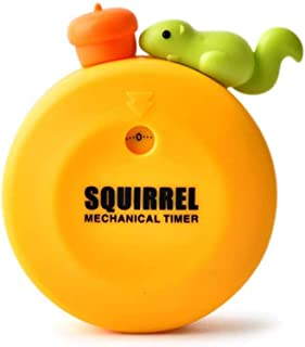 Cute Squirrel Machinery Timers 60 Minutes Mechanical Kitchen Cooking Timer Clock Loud Alarm Counters Manual Timer Kitchen ...