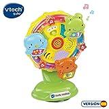 VTech- Noria Musical Sonajero Interactivo Que Incluye una Ventosa para pegarlo...