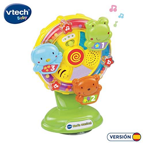 VTech-80-165922 Noria Musical, se sujeta en la Trona o Silla. Entretiene Mientras Come el bebé. (3480-165922)