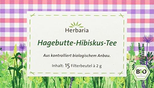 Herbaria Hagebutte-Hibiskus-Tee 15FB (1 x 30 g) - Bio