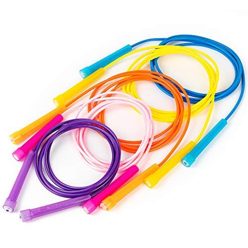 THE TWIDDLERS 5pcs Springseil Kinder Hüpfseile Speed Rope | Antirutsch Einstellbar Griffe Sport Fitness Springseil, Drinnen Draußen Freizeit Und Training Speed Rope Abnehmen Spaß