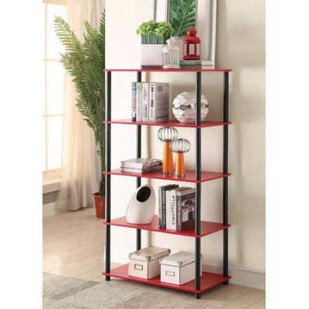 Mainstays No Tools Assembly 8-Cube Shelving Storage Unit, Multiple Colors (Red)