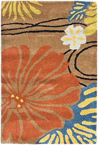 Safavieh Soho Collection SOH738A - Alfombra hecha a mano de lana y viscosa, 2 x 3 pies, color marrón y multicolor