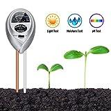 Orlegol Testeur de Sol, 3 en 1 Soil Tester Mètre d'humidité, Lumière et pH...