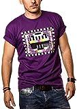 Camiseta para Hombre - PATRN DE Prueba - Big Bang Theory Morado L