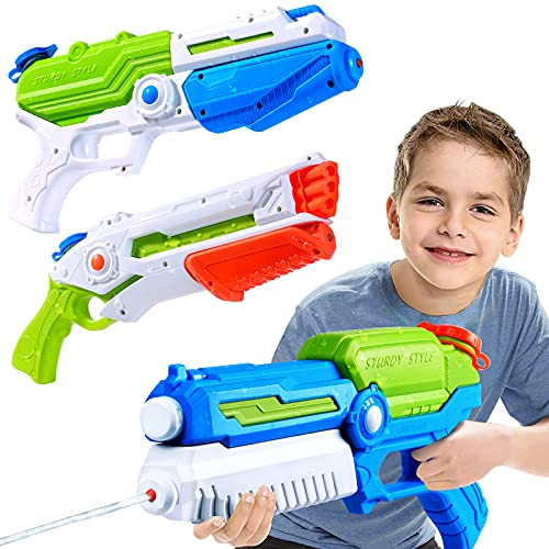 Yunaking Water Guns for Kids, 3 Pack Super Water Blaster Soaker Squirt Guns, 1250CC High Capacity, Summer Swimming Pool Beach Party Favors Water Outdoor Fighting Toy for Kids Adults Boy Girl