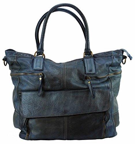 BZNA Bag Boney blue Italy Designer Damen Handtasche Schultertasche Tasche Leder Shopper Neu