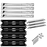 Hisencn Grill Repair Kit Compatible with Kenmore 146.16198211, 146.23676310, 146.34611410, 146.23678310, 146.10016510, 146.16197210, 146.16132110, 146.34461410 Burner, Porcelian Heat Plate, Crossover