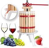 Fruit Press, 6/Litre Fruit Press Crusher Wine Making Tool Grape Cider Pear Apple Juice