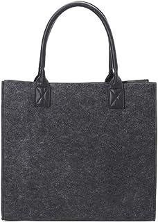 Leikance Einkaufstasche aus Filz, für Damen, Schulteraufbewahrung, Handtasche, Einkaufstasche, Handtaschen