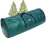 """Ohuhu 9ft Christmas Tree Storage Bag, 62"""" X 25.6"""" X 25.6"""" Extra Large Christmas Tree Storage Container, Tear Proof Duffle Bag Waterproof Material, UP to 9 ft Disassembled Artificial Xmas Tree, Green"""
