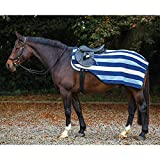 Horseware Rambo Newmarket Competition Fleece - Ausreitdecke XL Witney Stripes - Navy
