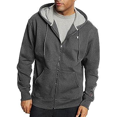 Champion by Men's Powerblend Fleece Full Zip Jacket_Granite Heather_XL from