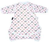 LoieSar Saco de dormir para bebé con mangas y pies desmontables para primavera, invierno y otoño, 100% algodón, talla 50/61 cm (0-3 meses), color rosa