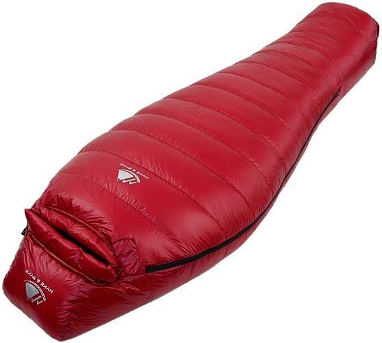 Sacs de couchage rectangulaires Outdoor outdoor camping portable intérieur portable pause déjeuner ultra léger imperméable à l'eau, vin rouge, 700 grammes Sacs de couchage de camping et randonnée