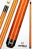 VIKING Valhalla 2 Piece Pool Cue Stick VA109 (18oz, Autumn Orange)