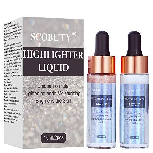 Highlighter, Highlighter Flüssig, Make-up Highlighter, Liquid Highlighter, Augen Gesicht Glitzer Brighten Wasserdichtes erhellen das Konturen-Makeup, verleiht dem Teint einen frischen Glow, 3pc