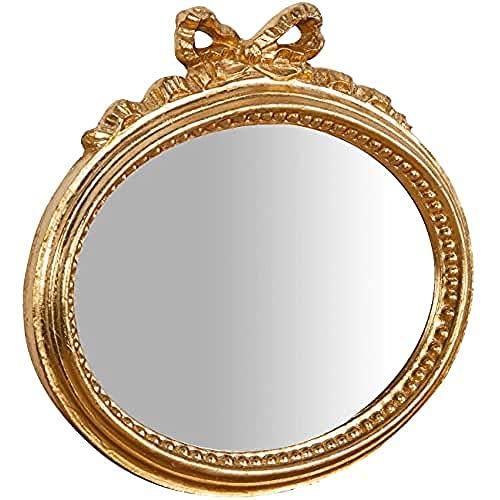 Biscottini Specchio Specchiera da parete stile Shabby in legno con finitura foglia oro Anticato misure L28xPR3xH27 cm produzione Artigianato Fiorentino Made in Italy