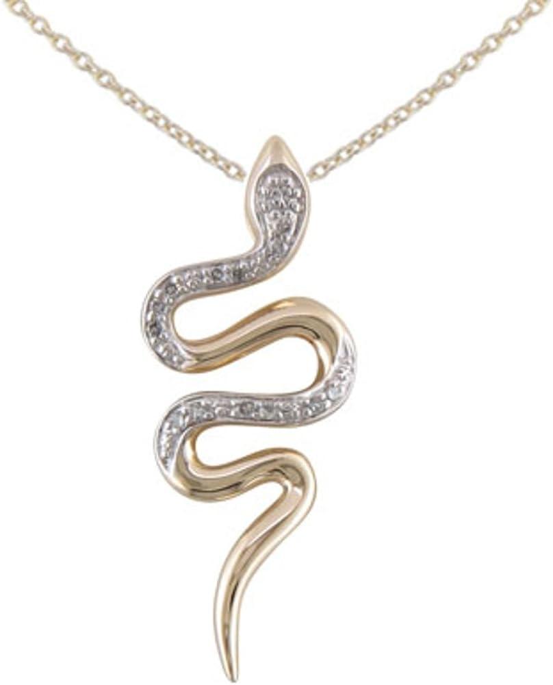 JMS Jewelry 10K Yellow Gold NEW Diamond with Pendant Animal Luxury 18 Snake