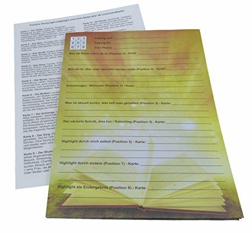 Beratungsblock Schreibblock A4 zur Highlight Legung incl. Deutungshilfe Lenormand (50 Blatt)