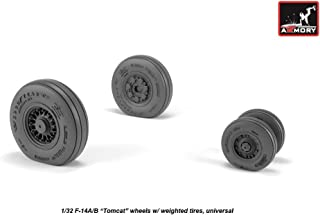 Armory AW32310-1/32 1/32 F-14 Tomcat Late Type Wheels w/Weighted Tires