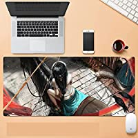 大型游戏鼠标垫防滑天然橡胶动漫鼠标垫键盘垫桌垫适用于笔记本电脑游戏玩家鼠标垫 XL-A_800X300X3mm