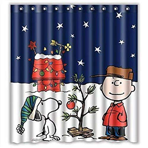 Peanuts Snoopy Christmas Shower Curtain