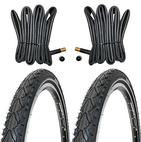 KENDA 2 x Reifen Fahrradreifen 28 Zoll 37-622 35C mit Reflexstreifen inklusive 2 x Schlauch mit Autoventil