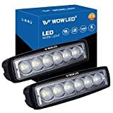 WOWLED 2 Pcs 18W CREE LED Flood Lamp Work Driving Light for SUV