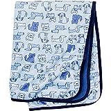 Gerber Baby Boys Girls and Neutral Newborn Infant Baby Toddler Nursery Soft Plush Blanket, Dogs Blue, 30' x 40'