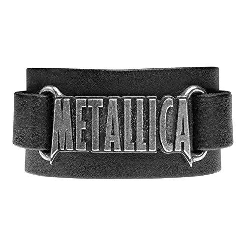 Pulsera de cuero Metallica, logo