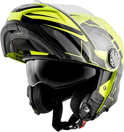 Givi Hps Hx23 Flip-Up Helmet Sydney Graphics Eclipse Yellow/Black Size 56/S | HX23FECYB56