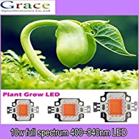 50pcs 10w cob grow led chip, full spectrum 380nm~840nm full spectrum led grow light for plant grow fast and better