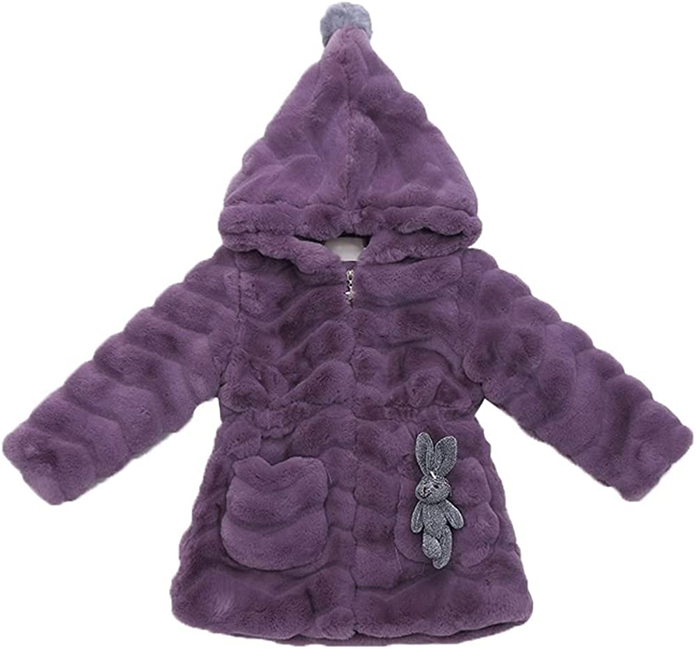 Girls Super beauty product restock quality top Faux Fur New products, world's highest quality popular! Winter Coat Zip Fleece Quilted Warm Ou Jacket Up
