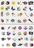 Oblique Unique® Tattoo Set 96 Kindertattoos Tattoo Verschiedene Motive Kinder Spielen -