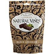 Natural Vines Black Licorice, 8-Ounce Bags (Pack of 6)