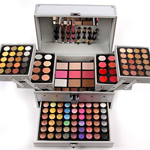 JasCherry Paleta de Sombras de Ojos 132 Colores de Maquillaje Set Kit Cosmético - Incluye sombra de ojos y Corrector Camuflaje y Polvo compacto y Rubor polvo y Brillo labios