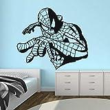 Tianpengyuanshuai Spider Pegatina de Pared Anime Hero Vinilo habitación para niños decoración de Dormitorio para Adolescentes Etiqueta de la Pared extraíble 87X100cm