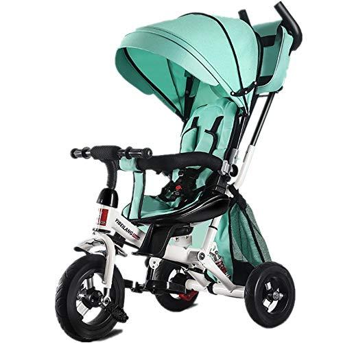 YBWEN Balance Bikes kinderen driewieler klap kinderen driewielerwagen 7-in-1 Baby Trike met duwstang draai- en ligstoel voor kinderen van 2-4 jaar lichte balans-fiets