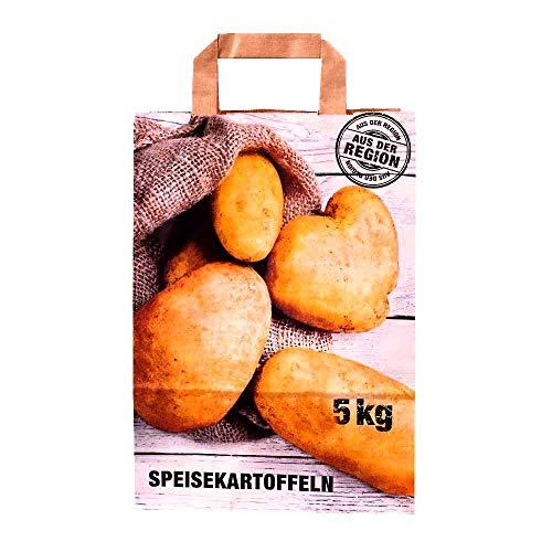 Wertpack 250x Papiertragetaschen Speisekartoffeln, 5 kg Füllgewicht, 220 + 100 x 360 mm