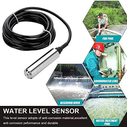 DC24V 4-20mA Wasserstandssensor,Füllstandssensor,Niveausensor mit wasserdichtem Kabel,zum Erfassen des Flüssigkeitsstands im Bereich von 0 bis 5 m