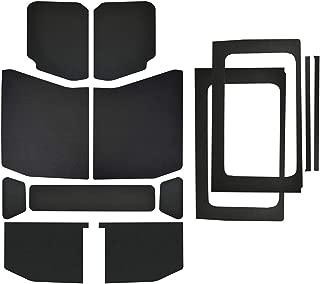 Design Engineering 050182 Boom Mat Leather Look Complete Sound Deadening Kit for 4-Door Jeep Wrangler JL (2018-up) - Black