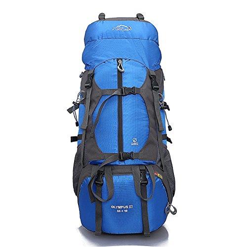 Mochila De Montañismo Al Aire Libre para Acampar Mochila De Camping De Gran Capacidad De 60l Mochila De Montañismo Azul
